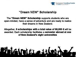 Infoslide Dream NEW scholarship